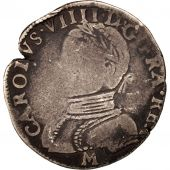France, Charles IX, Demi Teston, 1570, Toulouse, B+, Argent, Sombart:4604
