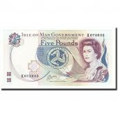 Isle of Man, 5 Pounds, Undated (1983- ), KM:41b, SPL+