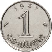 France, Épi, Centime, 1967, Paris, SUP, Stainless Steel, KM:928, Gadoury:91