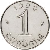 France, Épi, Centime, 1990, Paris, MS(60-62), Stainless Steel, KM:928, Gadoury91
