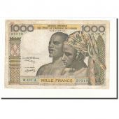 West African States, 1000 Francs, KM:103Ak, VF(30-35)