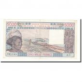 West African States, 5000 Francs, 1982, KM:708Kf, TTB