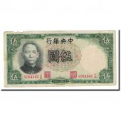 Banknote, China, 5 Yüan, 1936, KM:213a, VF(20-25)