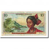 Banknote, French Antilles, 10 Francs, Undated (1964), KM:8b, VF(30-35)