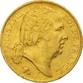 France, Louis XVIII, 20 Francs, 1819, Paris, AU(50-53), Gold, KM 712.1