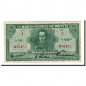Billet, Bolivie, 5 Bolivianos, 1928-07-20, KM:129, NEUF