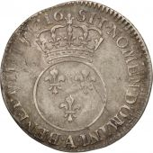 France, Louis XV, 1/10 Écu Vertugadin, 1716, Paris, VF(20-25), Silver, KM 418.1