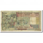 Billet, Tunisie, 5000 Francs, 1946, KM:27, TB+