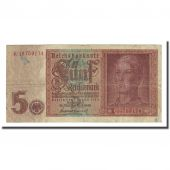 Banknote, Germany, 5 Reichsmark, 1942-08-01, KM:186a, VF(20-25)