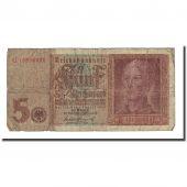 Banknote, Germany, 5 Reichsmark, 1942-08-01, KM:186a, VG(8-10)