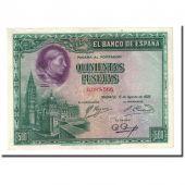 Billet, Espagne, 500 Pesetas, 1928-08-15, KM:77a, SPL