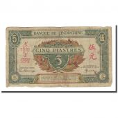 Billet, FRENCH INDO-CHINA, 5 Piastres, Undated (1942-45), KM:61, TB