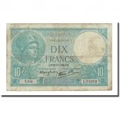 France, 10 Francs, 10 F 1916-1942 Minerve, 1939-10-26, VF(20-25)