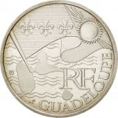France, 10 Euro Guadeloupe, 2010, SUP+, Argent, KM:1655