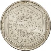 France, 10 Euro Mayotte, 2011, MS(60-62), Silver, KM:1726
