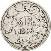 Coin, Switzerland, 1/2 Franc, 1906, Bern, VF(30-35), Silver, KM:23