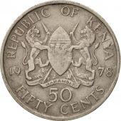 Kenya, 50 Cents, 1978, EF(40-45), Copper-nickel, KM:13