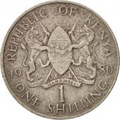Kenya, Shilling, 1980, British Royal Mint, EF(40-45), Copper-nickel, KM:20
