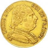 France, 20 Francs, 1815, London, EF(40-45), Gold, KM:1, Gadoury:1027