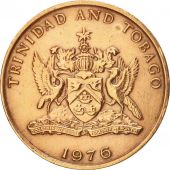 TRINIDAD & TOBAGO, 5 Cents, 1976, Franklin Mint, EF(40-45), Bronze, KM:26