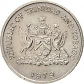 TRINIDAD & TOBAGO, 10 Cents, 1979, AU(55-58), Copper-nickel, KM:31