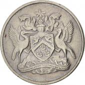 TRINIDAD & TOBAGO, 10 Cents, 1972, Franklin Mint, EF(40-45), Copper-nickel, KM:3