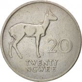 Zambia, 20 Ngwee, 1968, British Royal Mint, VF(30-35), Copper-nickel, KM:13