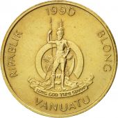 Vanuatu, Vatu, 1990, British Royal Mint, TTB+, Nickel-brass, KM:3