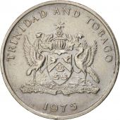 TRINIDAD & TOBAGO, 25 Cents, 1975, Franklin Mint, EF(40-45), Copper-nickel, KM28