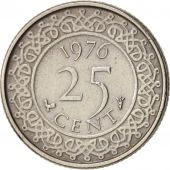 Suriname, 25 Cents, 1976, EF(40-45), Copper-nickel, KM:14