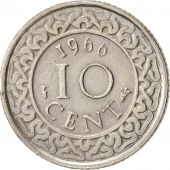 Suriname, 10 Cents, 1966, SUP, Copper-nickel, KM:13