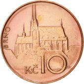 République Tchèque, 10 Korun, 1993, TTB, Copper Plated Steel, KM:4