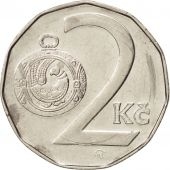 République Tchèque, 2 Koruny, 1995, TTB+, Nickel plated steel, KM:9