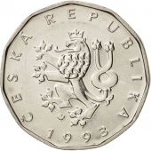 République Tchèque, 2 Koruny, 1993, TTB+, Nickel plated steel, KM:9