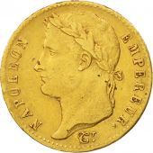 France, 20 Francs, 1815, Paris, EF(40-45), Gold, KM:705.1, Gadoury:1025a