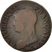 France, Dupré, 5 Centimes, 1799, Paris, TB, Bronze, KM:640.1, Gadoury:126a