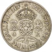 Great Britain, George VI, Florin, Two Shillings, 1942, EF(40-45), Silver, KM:855