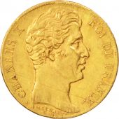 France, Charles X, 20 Francs, 1825, Paris, EF(40-45), Gold, KM:726.1,Gadoury1029
