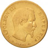 France, Napoleon III, 10 Francs, 1860, Paris, VF(30-35),Gold,KM784.3,Gadoury1014
