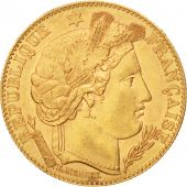 France, C�r�s, 10 Francs, 1895, Paris, AU(55-58), Gold, KM:830, Gadoury:1016