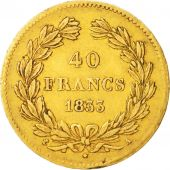 France, Louis-Philippe, 40 Francs, 1833, Paris, TTB, Or, KM:747.1, Gadoury:1106