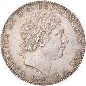 Grande-Bretagne, George III, Crown, 1820, London, SUP, Argent, KM:675