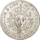 France, Louis XVI, Écu aux branches dolivier, 1784, Paris, AU(50-53), KM 564.1