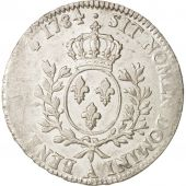 France, Louis XVI, Écu aux branches dolivier, 1784, Paris, VF(30-35), KM 564.1