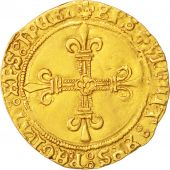 France, Charles VIII, Ecu dor, Montpellier, TTB, Or, Duplessy:575A