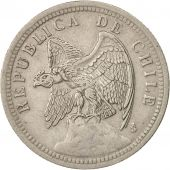 Chile, Peso, 1933, Santiago, TTB, Copper-nickel, KM:176.1