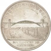Allemagne, Medal, Bridge Grünthal Railway Heide in Neumunster, Railway, 1895