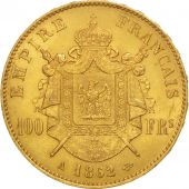 France, Napoléon III, 100 Francs, 1862, Paris, SUP, Or, KM:802.1, Gadoury 1136