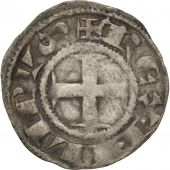 France, Philippe II (1180-1223), Denier, Deols, TB+, Argent, Duplessy:178