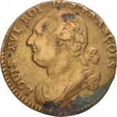 France, 12 deniers françois, 1792, Paris, TB+, Bronze, KM:600.1, Gadoury 15